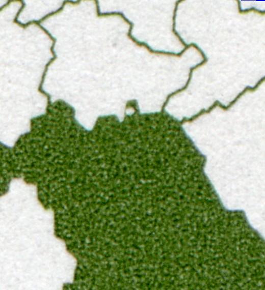 1587 Bayern: Eckrand-6er-Block mit 3 PLF auf den Feldern 1+6+8 1