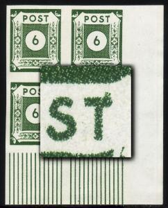 43Aa Ziffern 6 Pf. ER-Vbl. u.r. mit PLF VIII Punkt rechts am T, Feld 90, **