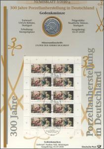 2805 300 Jahre Porzellanherstellung in Deutschland - Numisblatt 3/2010
