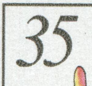 2577 Gehölze 35 Pf: Kerbe unten in der 5, Feld 31, **