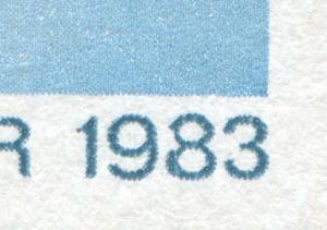 2771 Weltkommunikationsjahr 10 Pf mit PLF 8 mit Kerbe, Feld 40 **