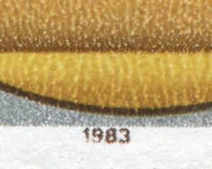 2839 Winterolympiade 10 Pf: unten beschädigte 19 bei der Jahreszahl, Feld 22, **