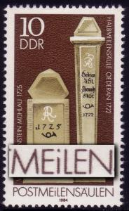 2853I Postmeilensäulen 10 Pf: kleines i in POSTMEILENSÄULEN, Feld 29 **