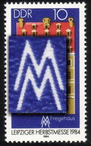 2891I Messe Leipzig 10 Pf mit PLF I weiße Spitze des M verdickt, Feld 37 **