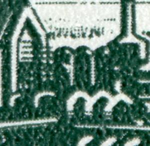 2893 35 Jahre DDR 10 Pf: weißer Strich am Container, Feld 28 **