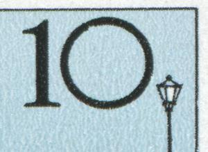 2972 Brücken 10 Pf: Kerbe in der Null und Kerbe im Rand, Feld 29 **