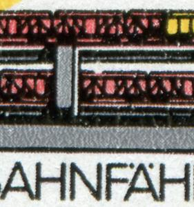 3052-3053 Eisenbahnfähre, Zusammendruck mit PLF 3052 Dachbruch, Feld 17 **