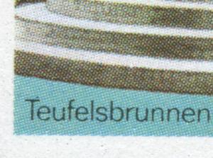 3266 Magdeburg 70 Pf. mit PLF schwarzer Punkt über dem T von Teufelsbrunnen, **