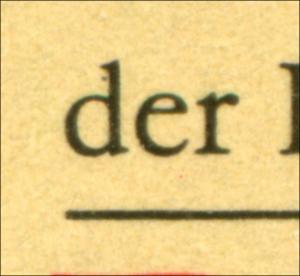 3272 Müntzer 50 Pf: schwarzer Punkt am d von der, **