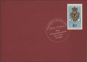 Jahresgabe der Post Block 10 - 25 Jahre Bundesrepublik, ESSt Bonn 15.5.1974
