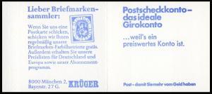 22Ih MH BuS 1980 Buchdruck Variante c - postfrisch