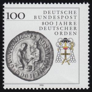 1451 Deutscher Orden - mit Verzähnung durch den linken Markenrahmen, **