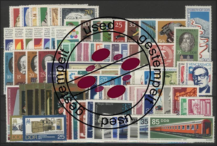 1815-1906 DDR-Jahrgang 1973 komplett, gestempelt 0