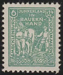 SBZ 23a Bodenreform 6 Pf, grün, ** geprüft