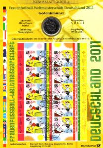 Frauenfußball-Weltmeisterschaft Münzbuchstabe F - Numisblatt 3/2011