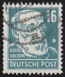 332va XI Rudolf Virchow 16 Pf Wz.2 XI Bedarfsstempel O geprüft