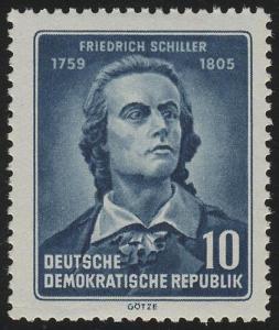 465A YI Friedrich Schiller 10 Pf, gezähnt, Wz.2 YI **