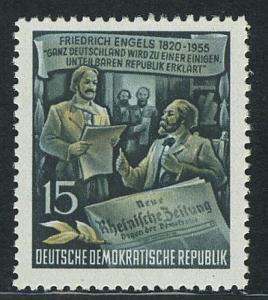 487A YII Friedrich Engels 15 Pf Wz.2 YII **