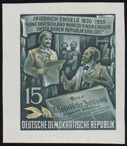 487B YII Friedrich Engels 15 Pf Wz.2 YII, UNGEZÄHNT, **