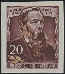 488B YII Friedrich Engels 20 Pf Wz.2 YII, UNGEZÄHNT, **