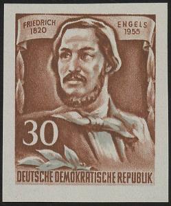 489B YII Friedrich Engels 30 Pf Wz.2 YII, UNGEZÄHNT, **