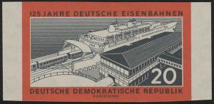 805B Deutsche Eisenbahnen 20 Pf, GESCHNITTEN, **