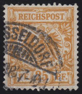 49a Krone/Adler 25 Pf, O geprüft