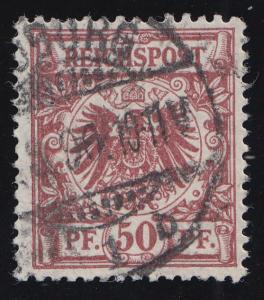 50b Krone/Adler 50 Pf, O geprüft