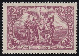 115d Deutsches Kaiserreich 2,50 M ** geprüft