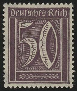 183b Freimarke Ziffer 50 Pf Wz 2 **