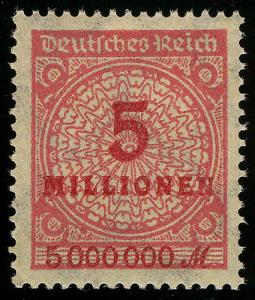 317AW Kreis mit Rosetten-Muster 5 Mio M **