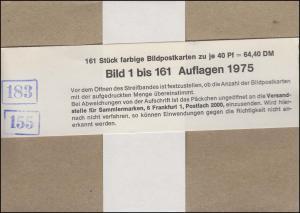 P116 Karten-Serie 1 bis 161/1975 komplett original wie verausgabt **