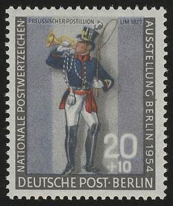 120b Nationale Postwertzeichen-Ausstellung Postillion **