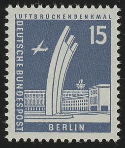 145xw glatt Stadtbilder Luftbrückendenkmal 15 Pf **