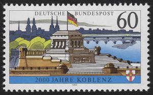 1583x Koblenz, Papier OHNE Fluoreszenz, postfrisch **