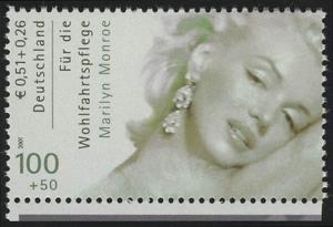 2219C Wofa Filmschauspieler Marilyn Monroe Zähnung C aus MH, **
