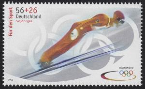 2239b Sporthilfe 56+26 C Olympiade Skispringen, **