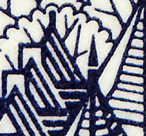 22Ih MH BuS 1980 Buchdruck - mit PLF III Strich im Dach ** postfrisch