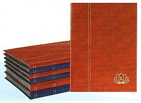 LINDNER Einsteckbuch / Einsteckalbum 16 schwarze Seiten, Einband rot