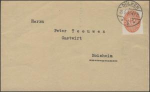 Dienstmarke 12 Pf EF Amtsgericht Dülken 26.8.1933 nach Boisheim