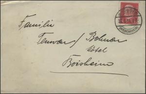 Hindenburg 15 Pf EF Brief Brüggen/Niederrhein 22.9.1931 nach Boisheim