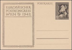 P 294a Europäischer Postkongreß Wien 1942 ohne Aufdruck, ** wie verausgabt