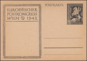 P 294b Europäischer Postkongreß Wien 1942 ohne Aufdruck, ** wie verausgabt