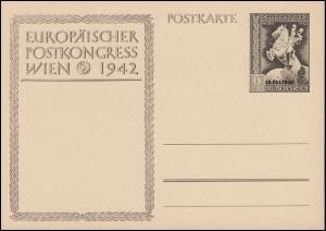 P 295a Europäischer Postkongreß Wien 1942 mit Aufdruck, ** wie verausgabt