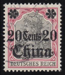 32 China - Aufdruck Germania 40 Pf. gestempelt