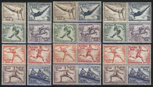 624-631 Olympia-Zusammendrucke (10 Stück) komplett, postfrisch **