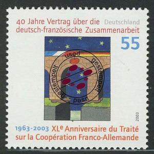 2311II Deutsch-französiche Zusammenarbeit mit Rastertype II, O