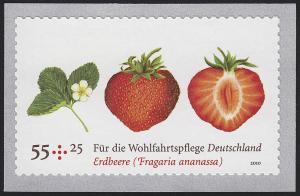 2777II Erdbeere SELBSTKLEBEND mit Erdbeerduft aus Rolle, **