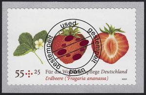 2777II Erdbeere SELBSTKLEBEND mit Erdbeerduft aus Rolle, O
