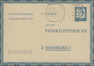 Funklotterie FP 10 Luther 15 Pf. Stade//Vorrat anschaffen 8.6.64